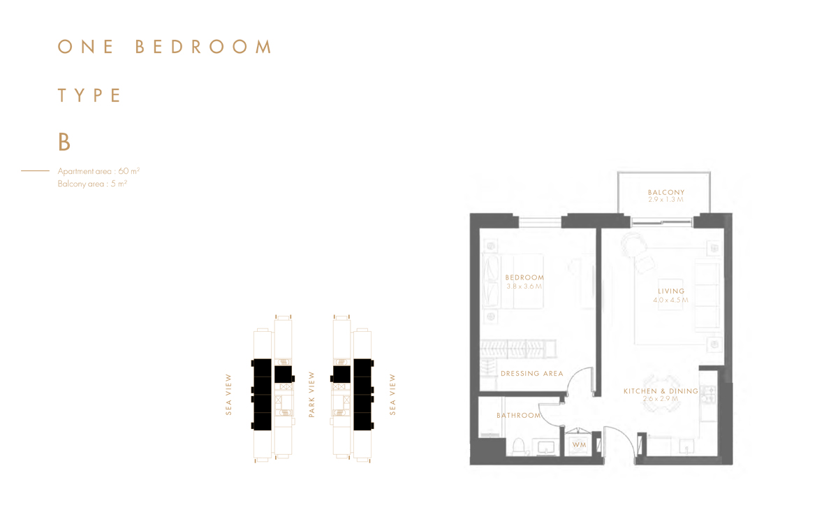 1 Bedroom Type B