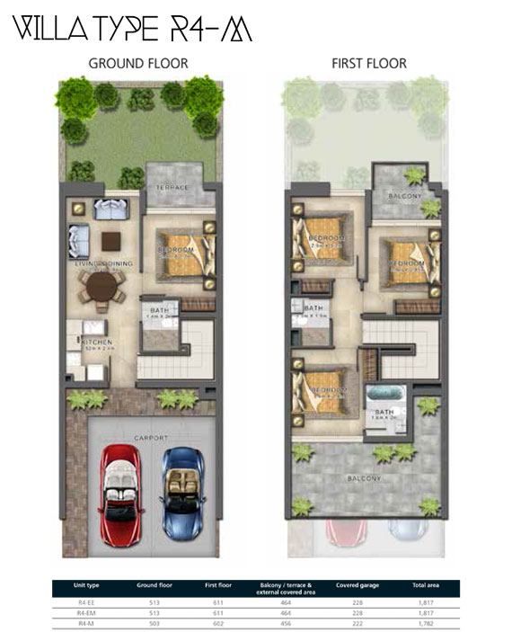 R4-M Villas Size 1783 sq ft