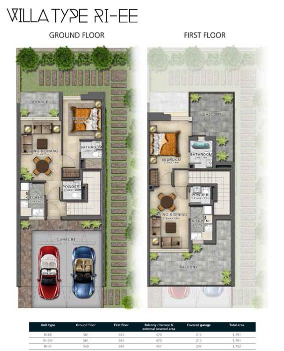 RI-EE Villas Size 1791 sq ft
