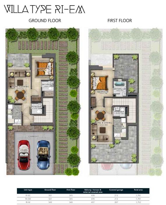 RI-EM Villas Size 1791 sq ft