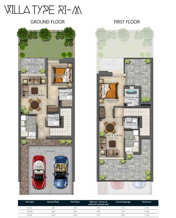 RI-M Villas Size 1752 sq ft