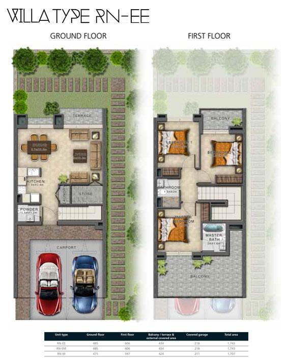 RN-EE Villas Size 1743 sq ft