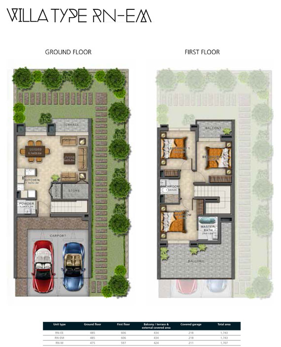 RN-EM Villas Size 1743 sq ft