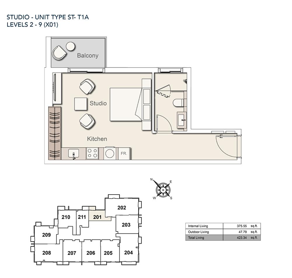 Studio-TY-ST-T1A-423.34-sqft