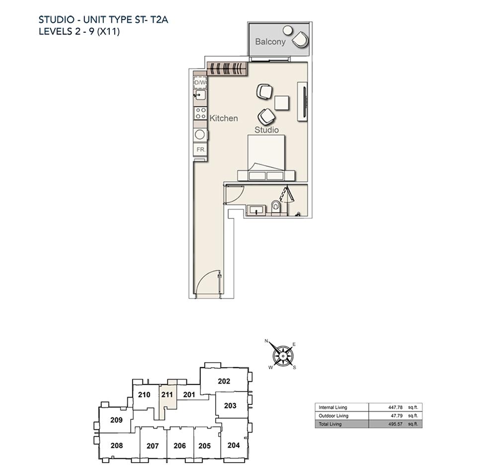 Studio-TY-ST-T2A-495.57-sqft