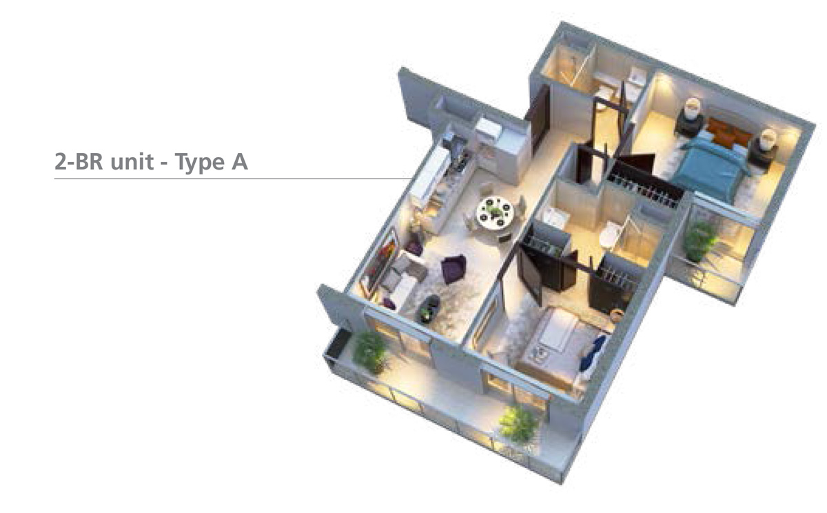 2-bedroom-Unit-type-A