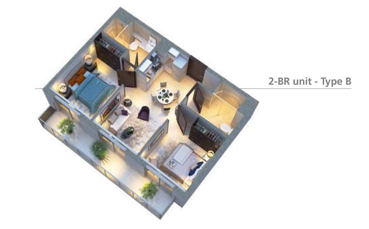 2-bedroom-Unit-type-B