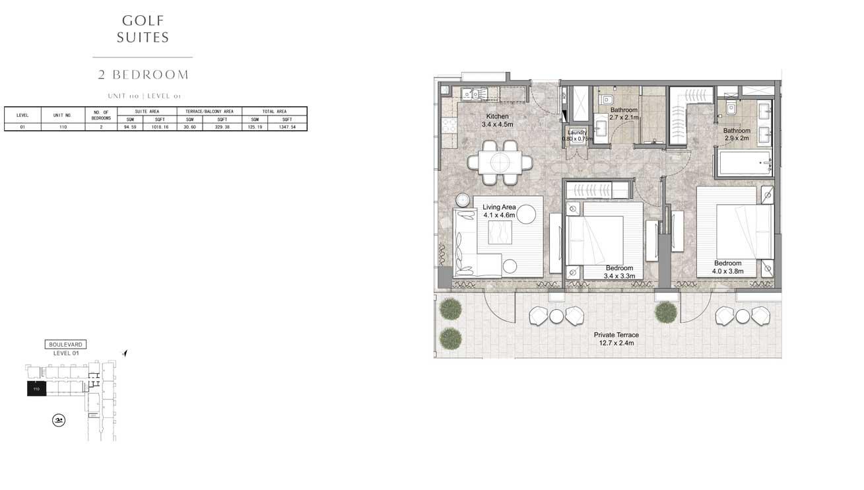2 Bedroom UNIT-110-LEVEL-01
