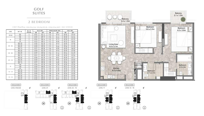 2 Bedroom Unit-P03-P04-103-104-114-03-04-07-15-1-103-1-104-1-107-ALL-LEVELS