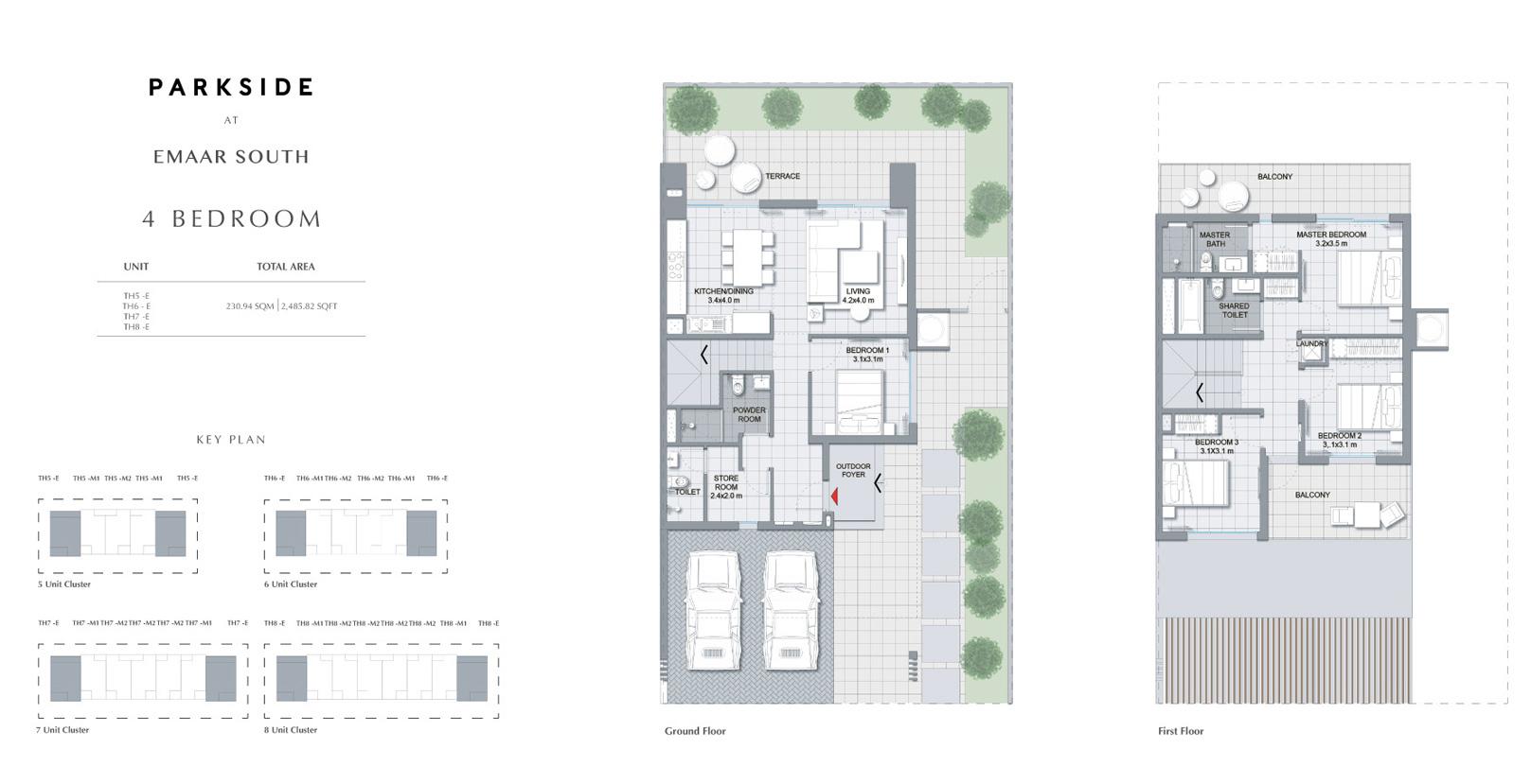 4 Bedroom - Size 2,485.82 Sq Ft