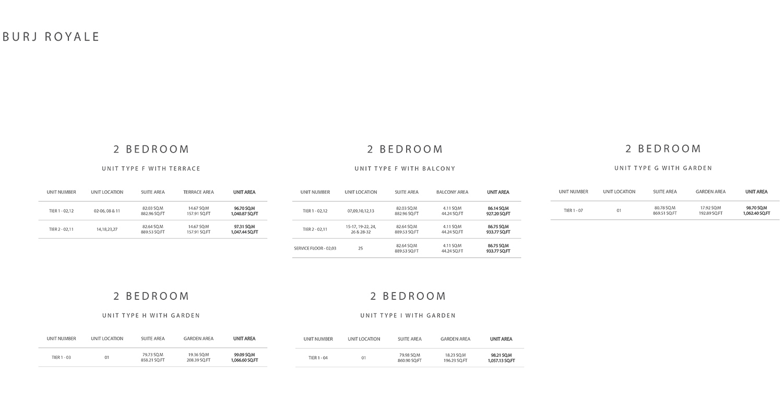 2 Bedroom  Size 1066.60 sq ft