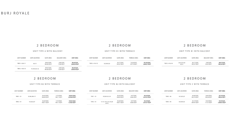 2 Bedroom  Size 1090.27 sq ft