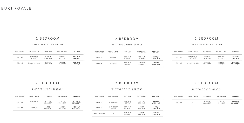 2 Bedroom  Size 1108.58 sq ft