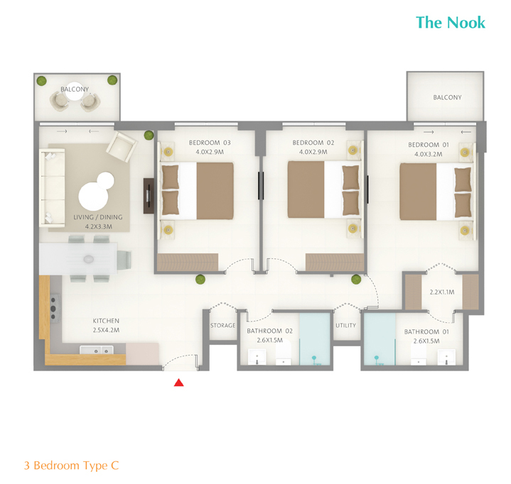 3 Bedroom Type C