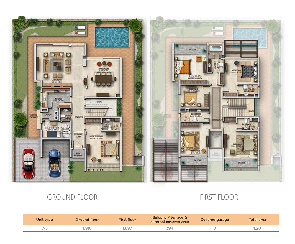 4 Bedroom Unit Type V3 Size 4201 sqft