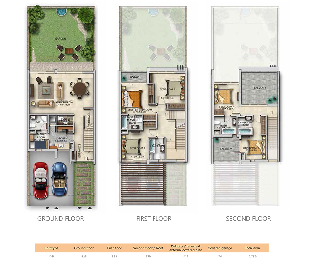 4 Bedroom Unit Type X-B Size 2739 sqft