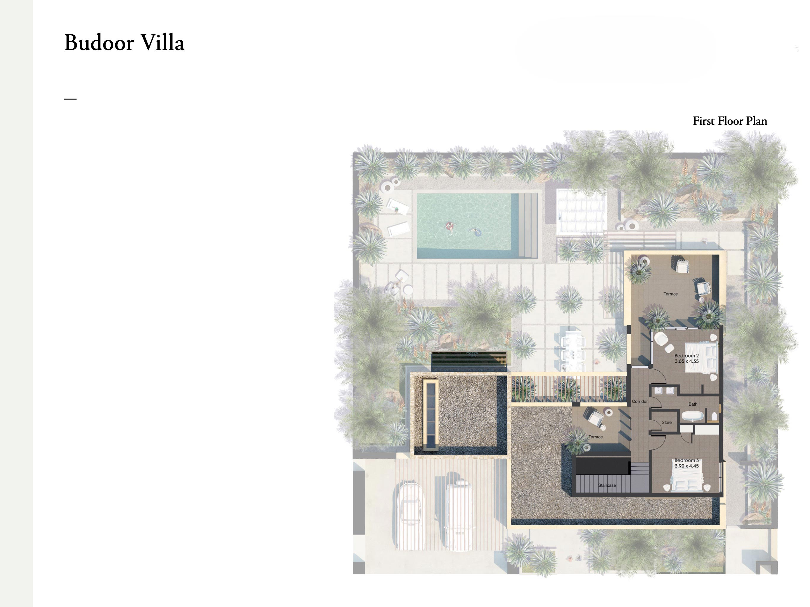 3 bedroom villas with a size area of 419 sqm