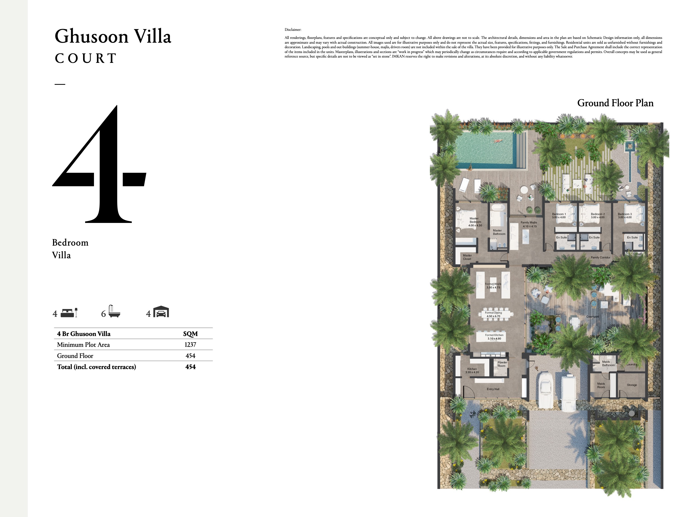 4 bedroom villas with a size area of 454 sqm