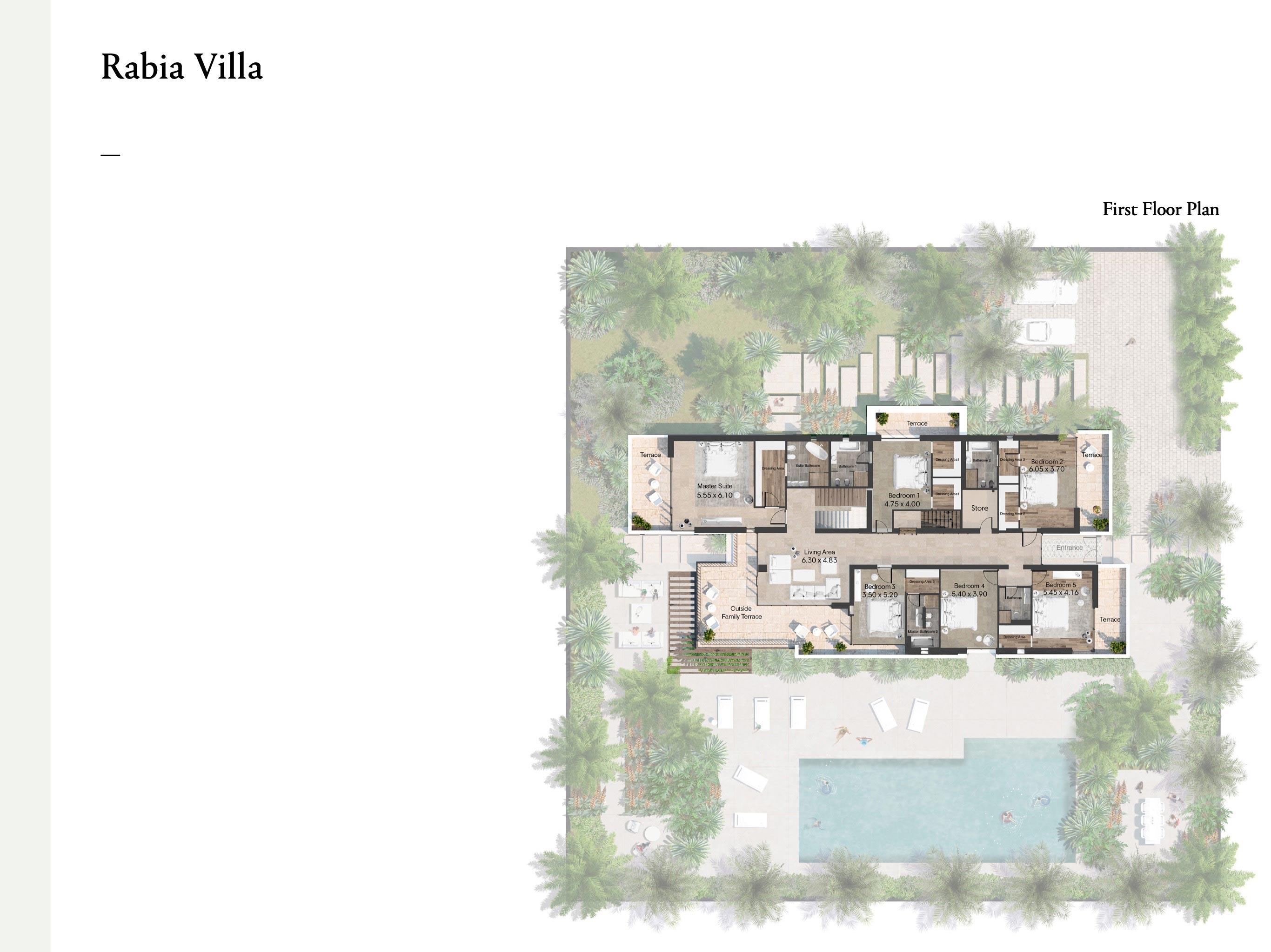 7 Bedroom Rabia Villas Size 1126 sqm