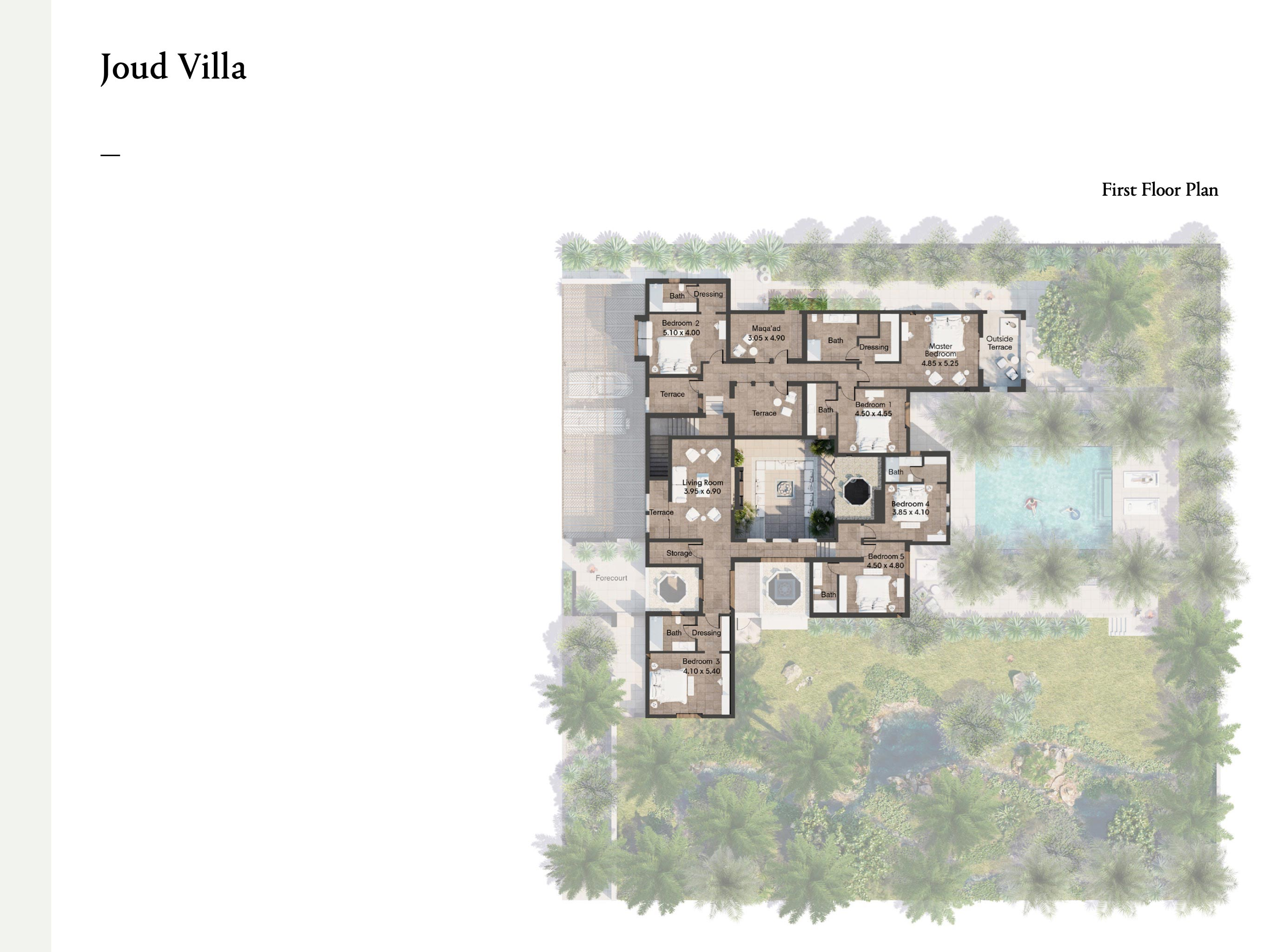 5 Bedroom Joud Villas Size 640 sqm