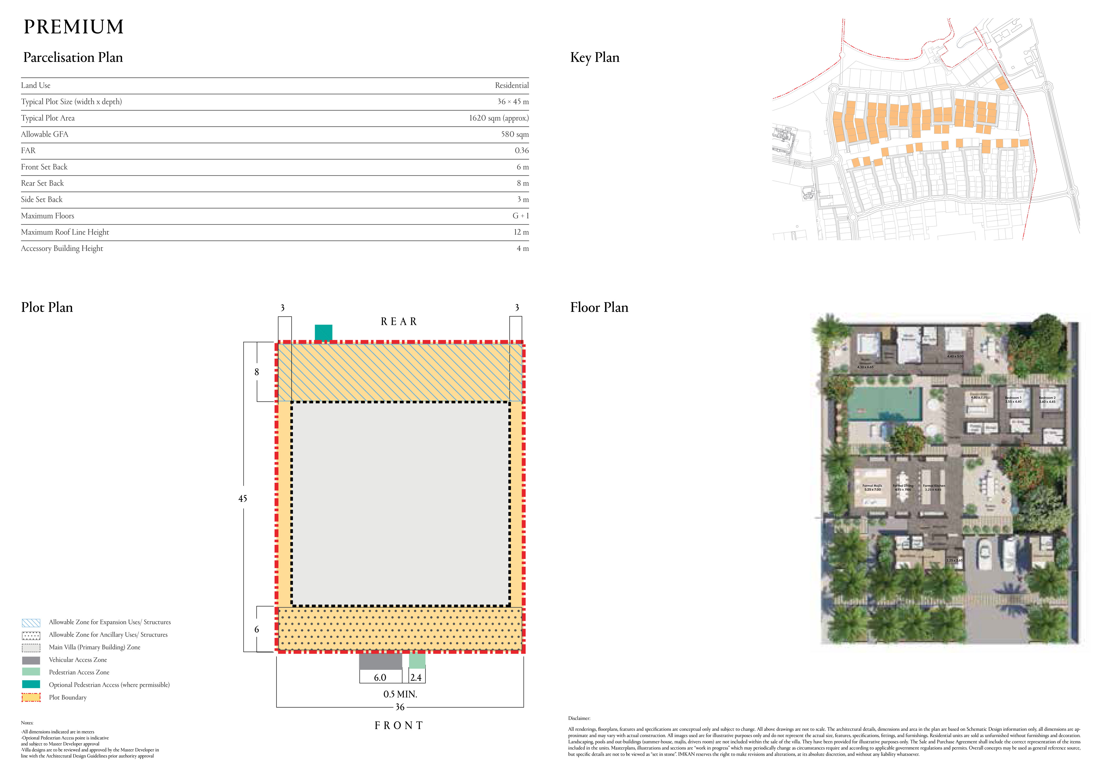 Typical Plot Size 1620 sqm (36 x 45m)