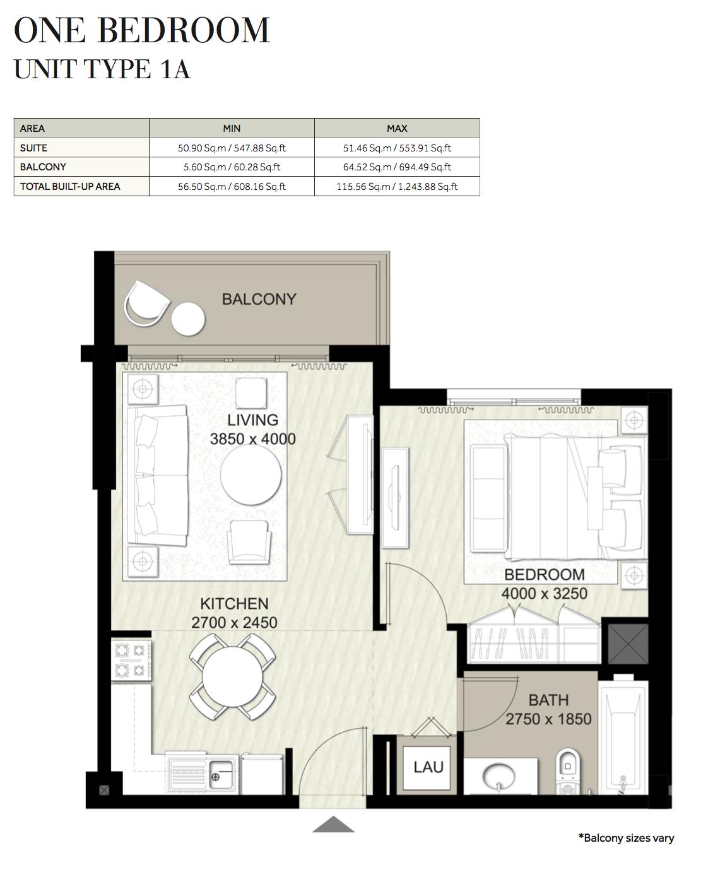1 Bedroom-UT-1A