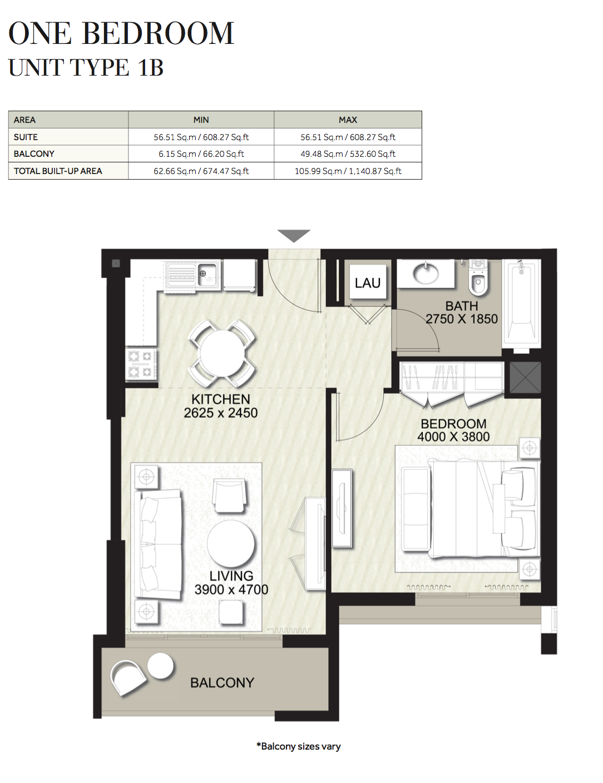 1 Bedroom-UT-1B
