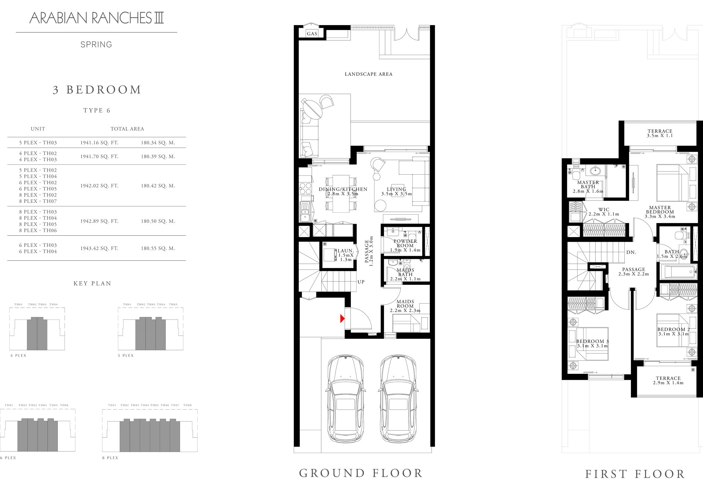 3 Bedroom Type 6 Size 1943.42 sq.ft