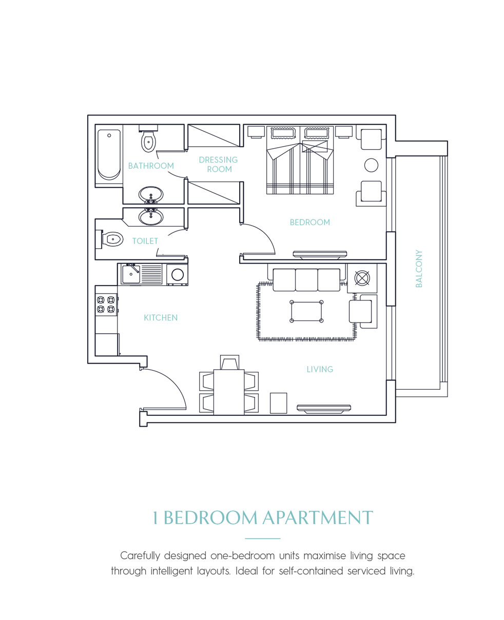 Candace Aster Serviced Apartments -  1 Bedroom
