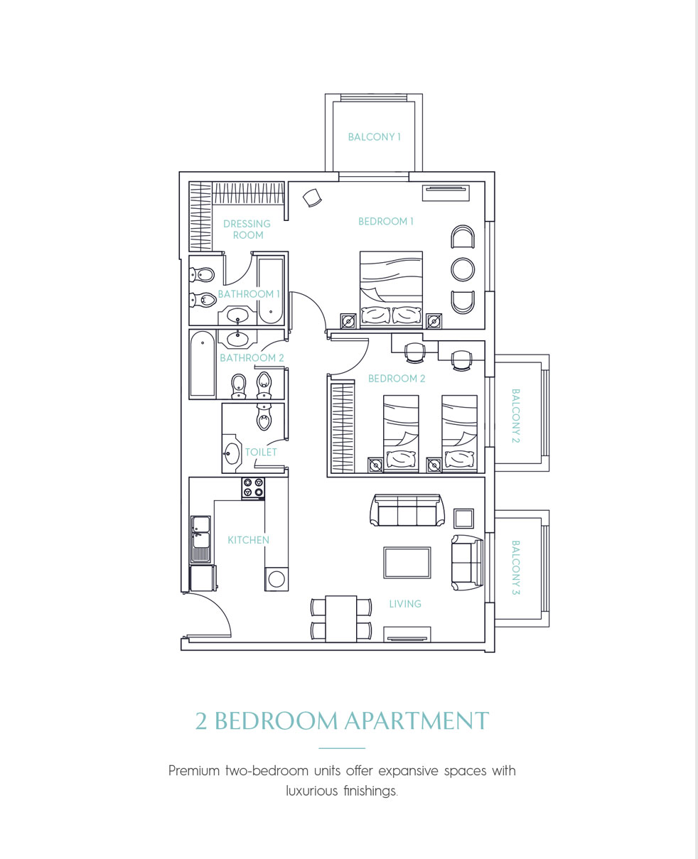 Candace Aster Serviced Apartments -  2 Bedroom