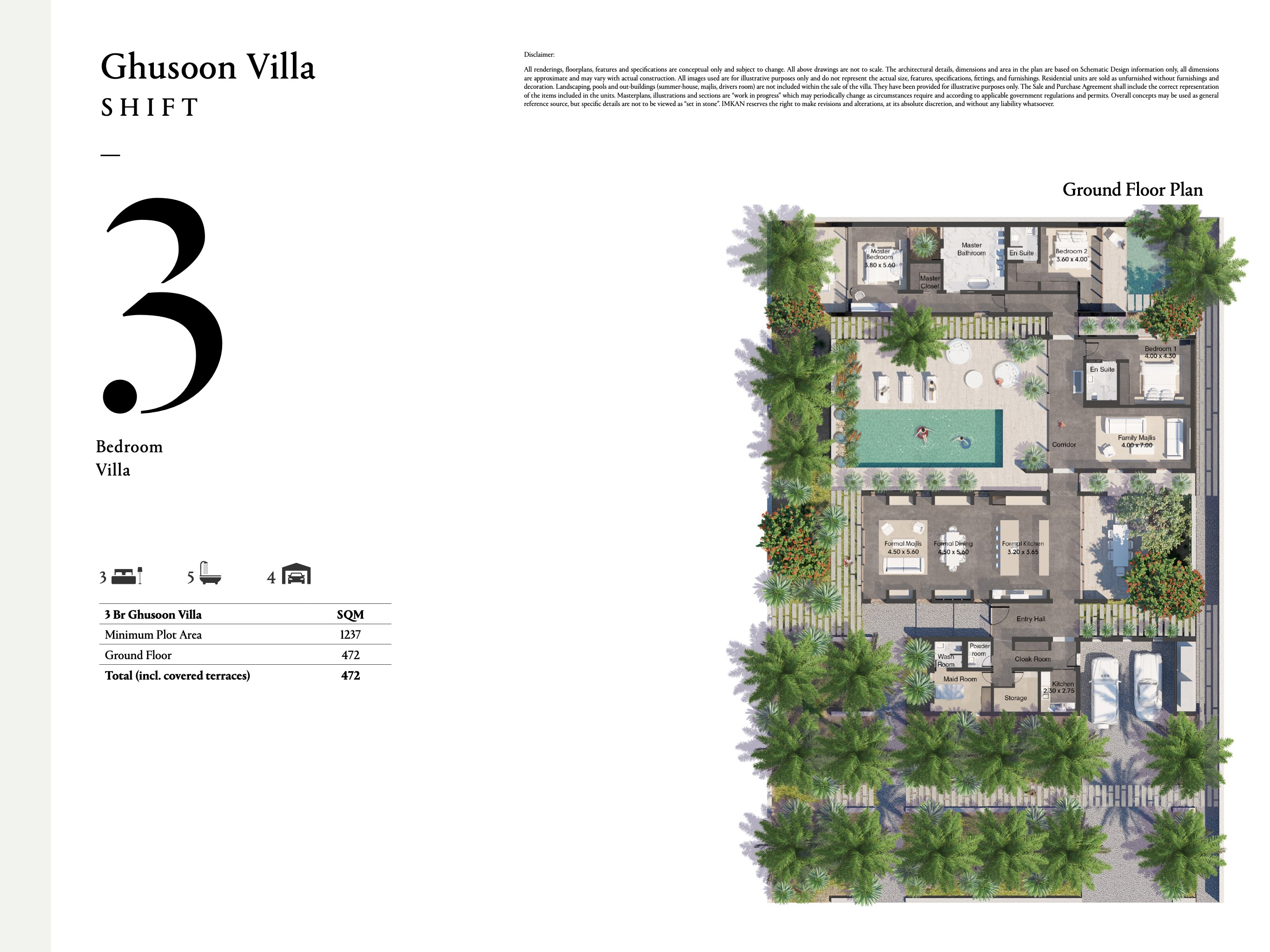 Ghusoon Villa - 3 Bedroom with a size area of 472 sqm