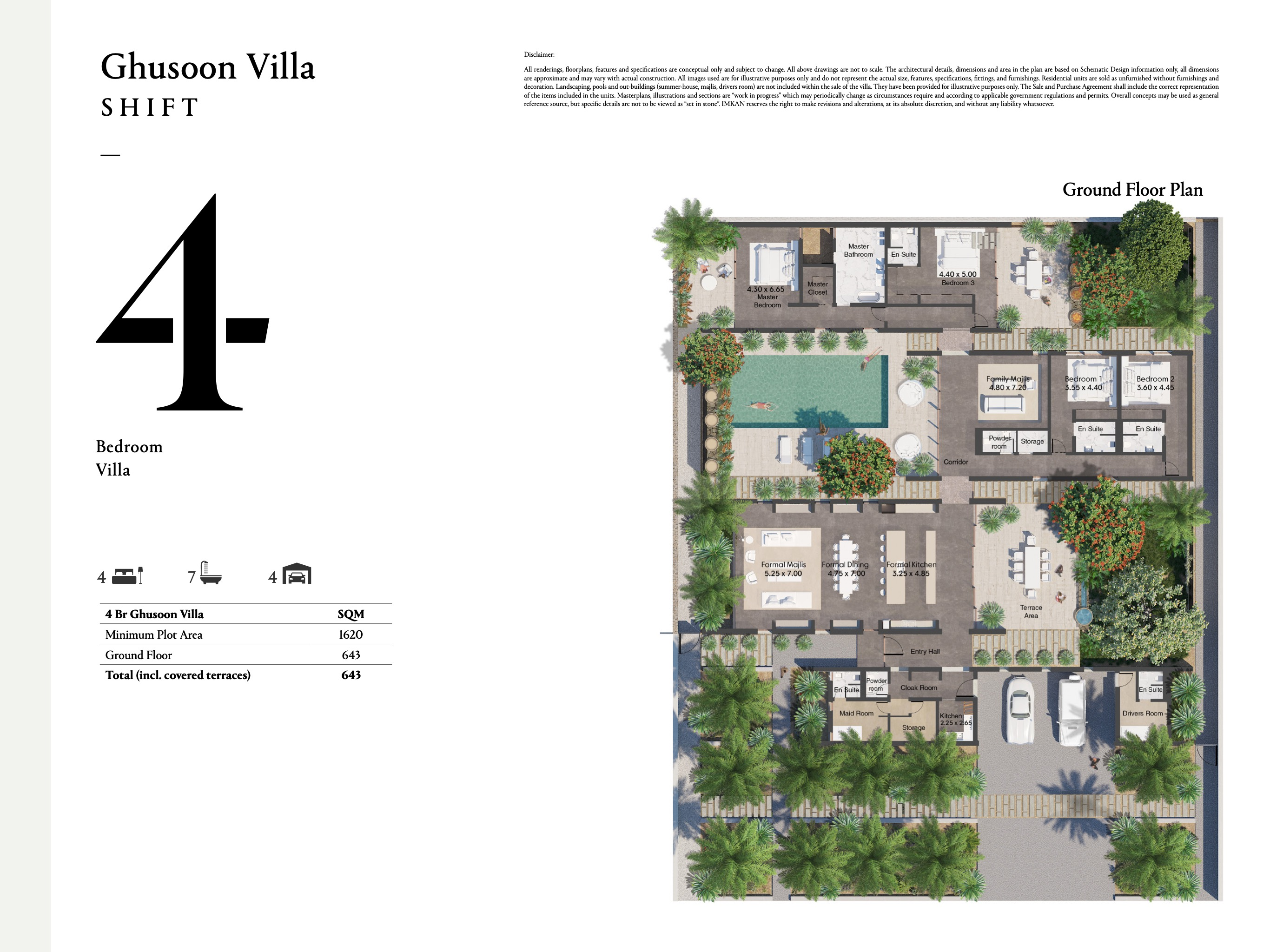 Ghusoon Villa - 4 Bedroom with a size area of 643 sqm