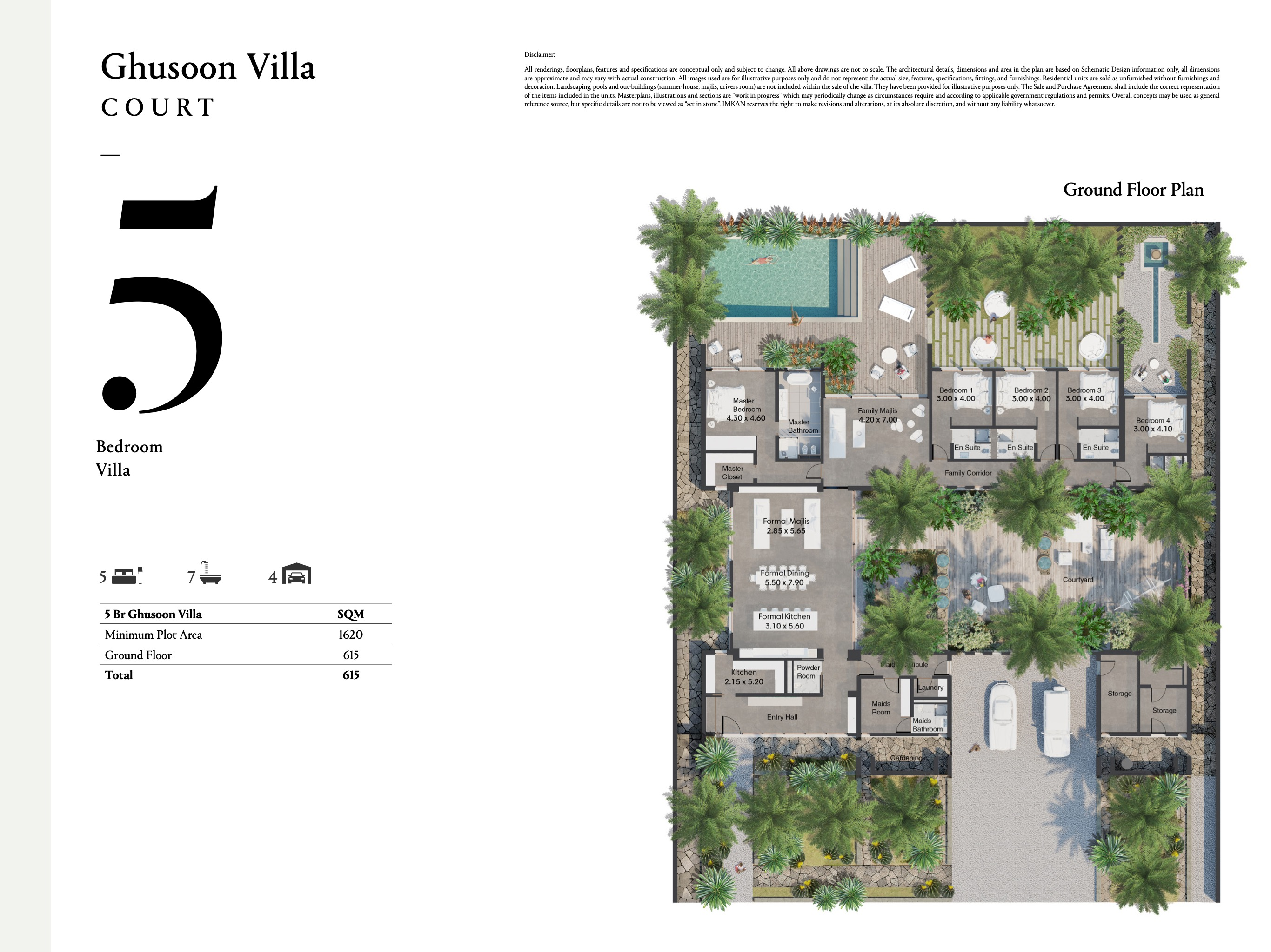 Ghusoon Villa - 5 bedroom with a size area of 615 sqm