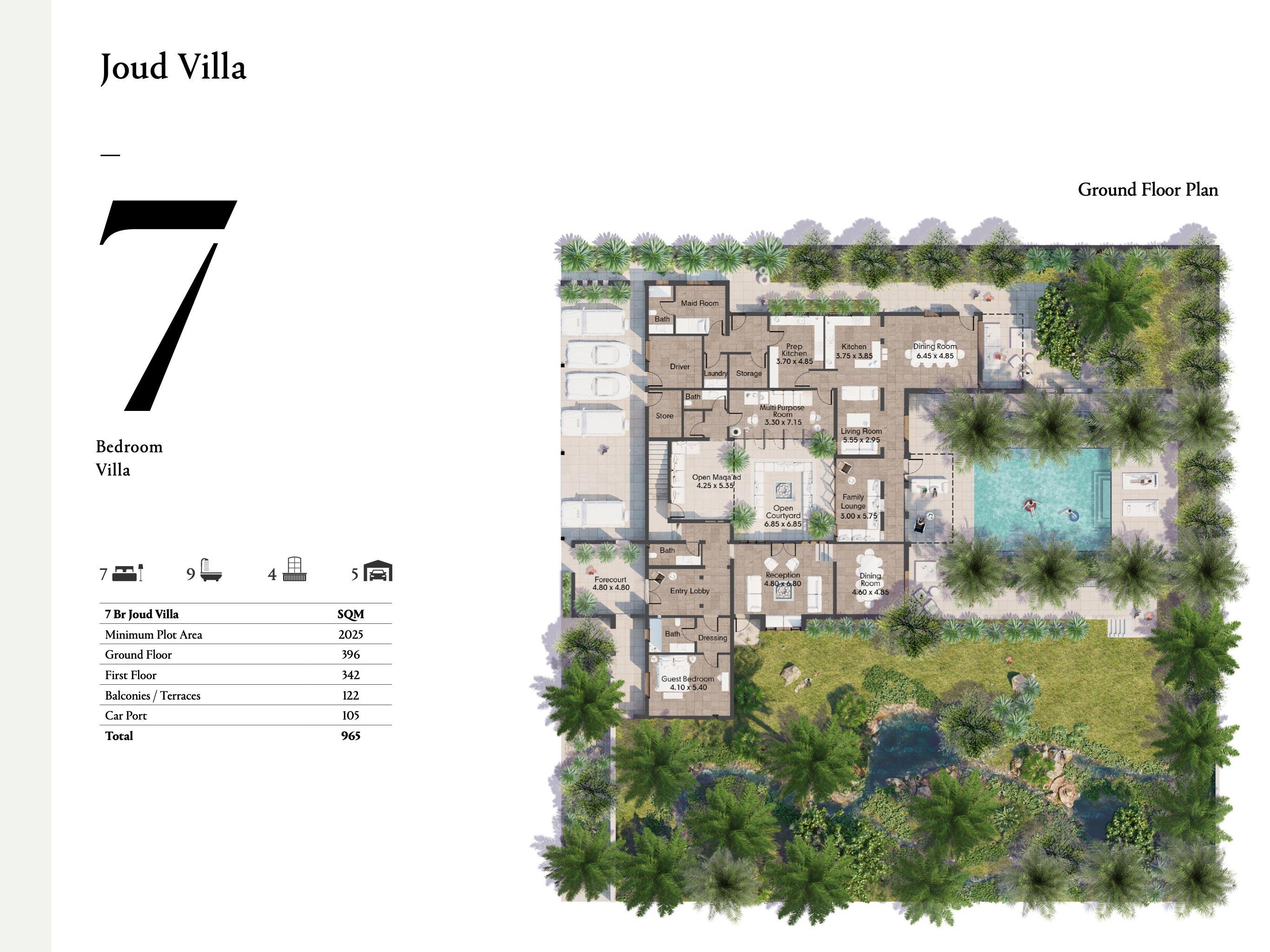 Joud Villa 7 Bedroom Size 965 sqm