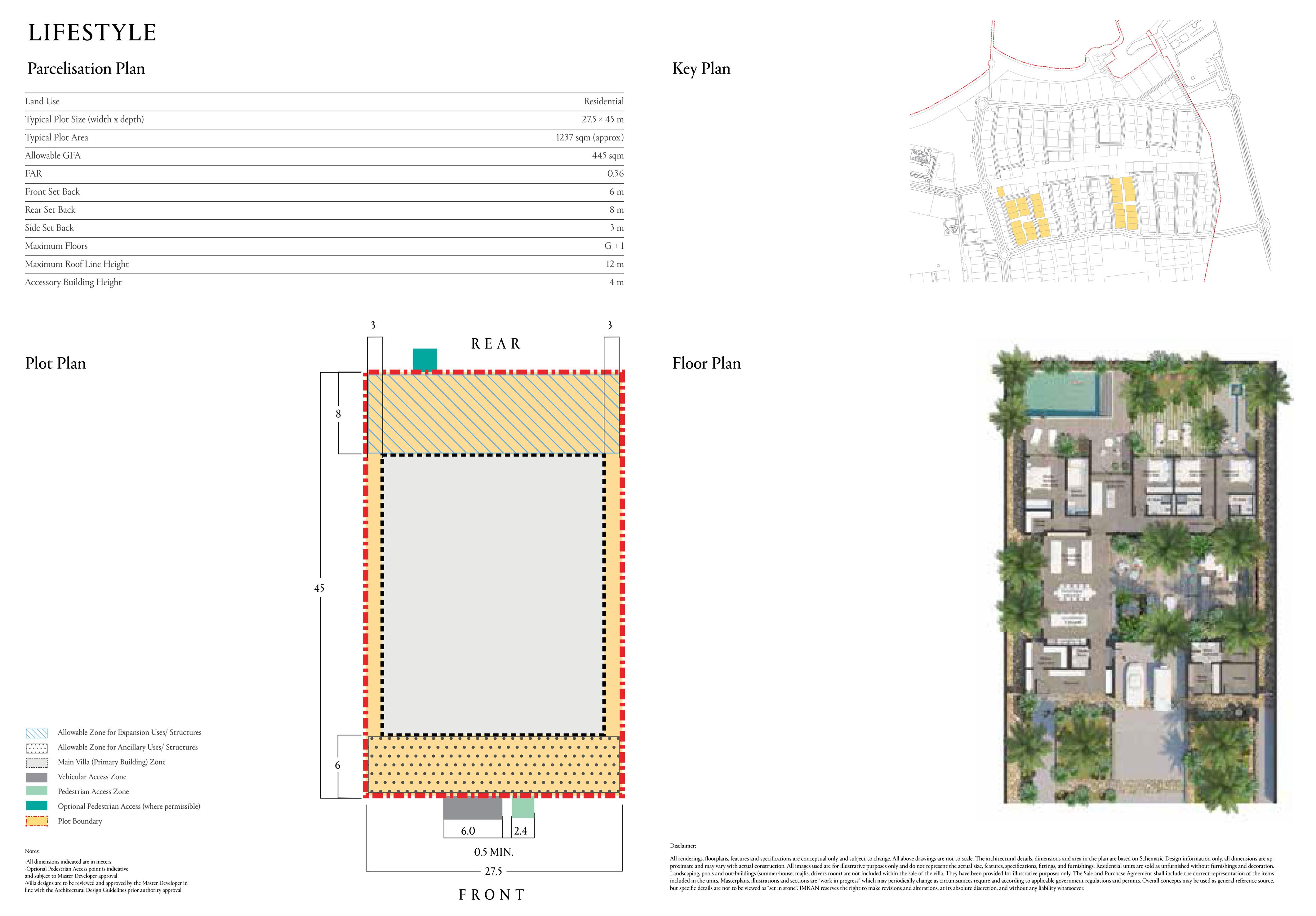 Typical Plot Size 1237 sqm (27.5x 45m)