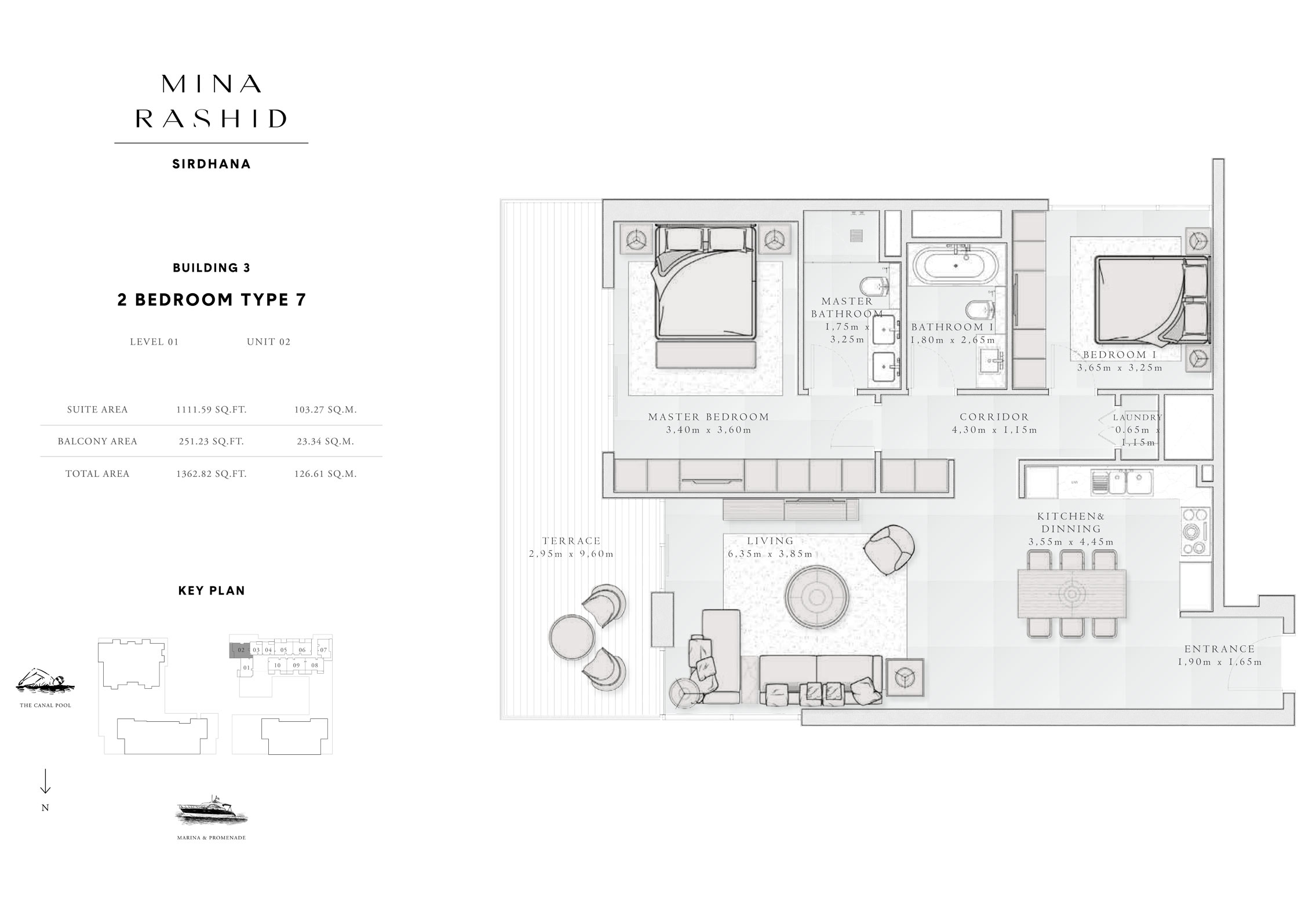 2-Bedroom-Type-7, Building-3, Level-1, Size-1362-Sq-Ft