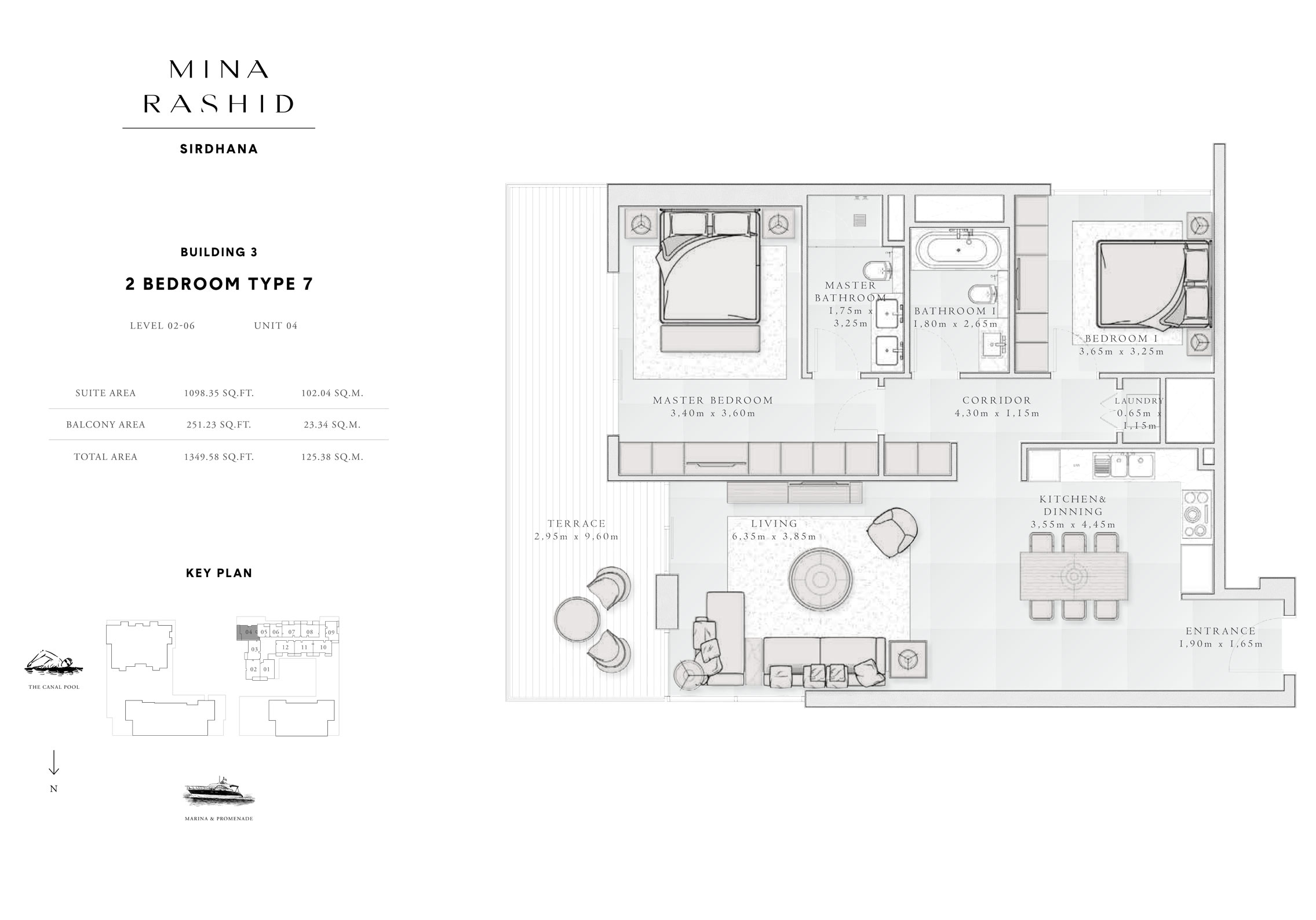 2-Bedroom-Type-7, Building-3, Level-2 to 6, Size-1349-Sq-Ft