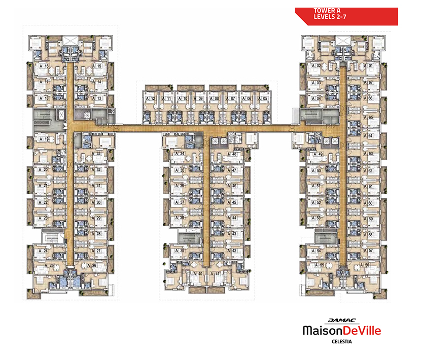 Typical Floor Plan - Tower A - Level 2 to 7