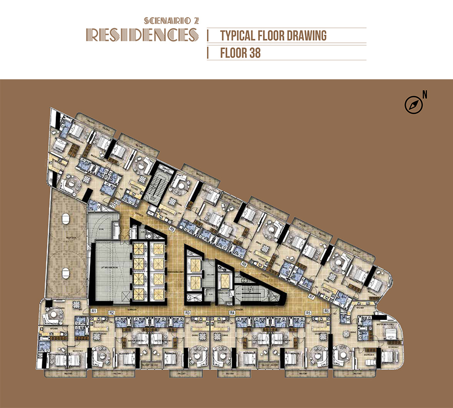 Hotel Rooms - Scenario 2 - Floor 38