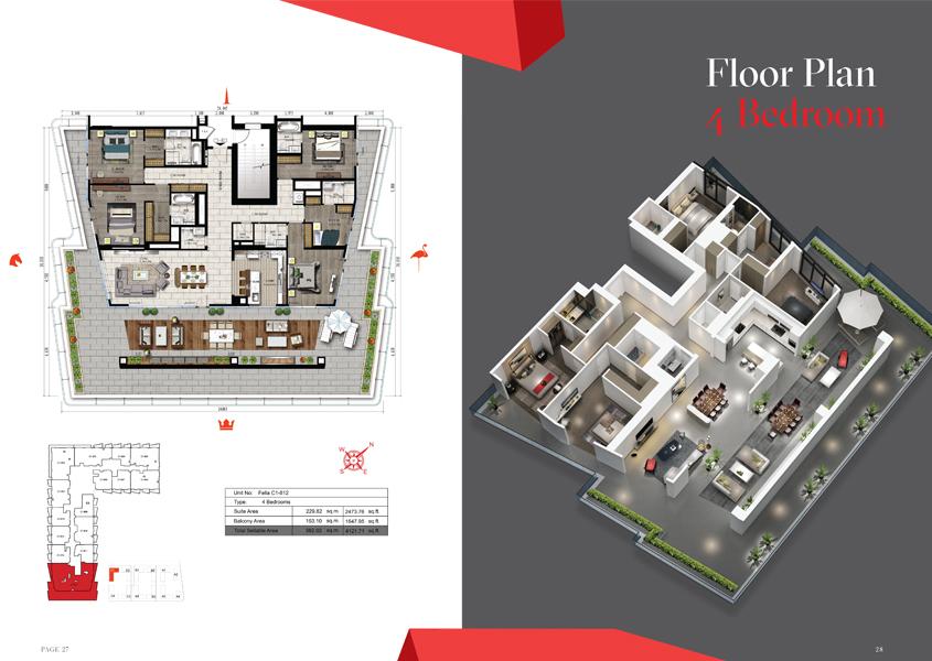 4 Bedroom, Size 4121 Sq Ft