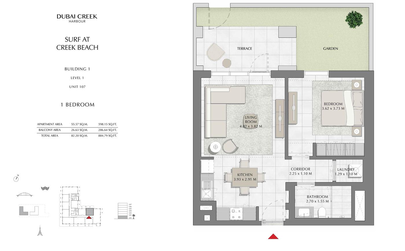 Building-1-1-Bedroom,-Level-1,-Unit-107,-Size-884.79-sq-ft