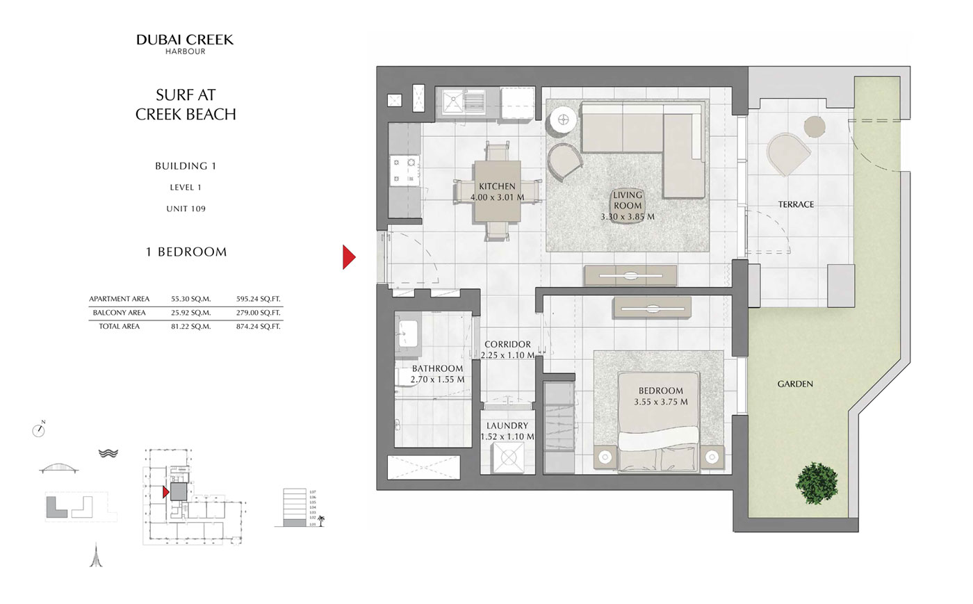 Building-1-1-Bedroom,-Level-1,-Unit-109,-Size-874.24-sq-ft