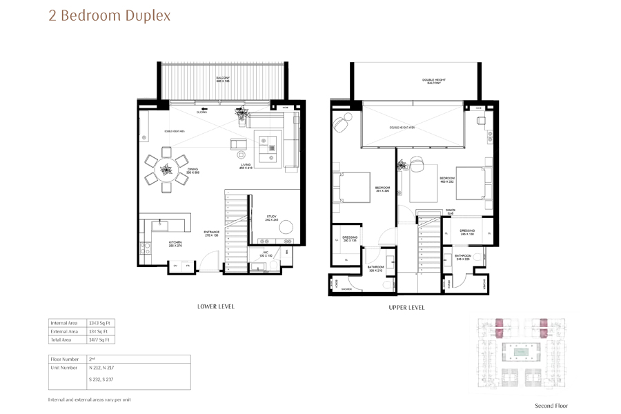 2-Bedroom-Duplex, Size-1477-Sq Ft