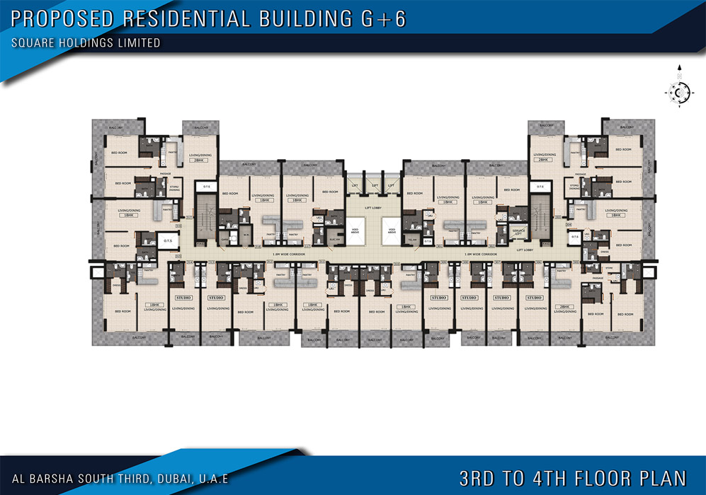 3rd to 4th Floor Plan
