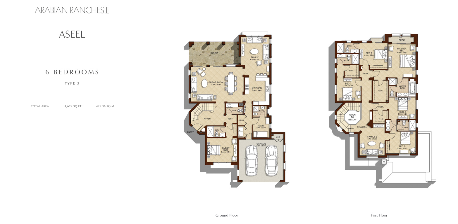 6 Bed - Type 3, Size 4622 Sq Ft