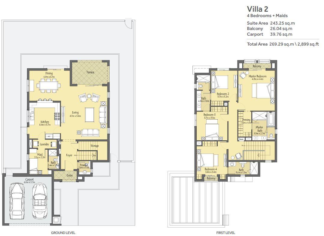 4 Bedroom unit + Maids Room