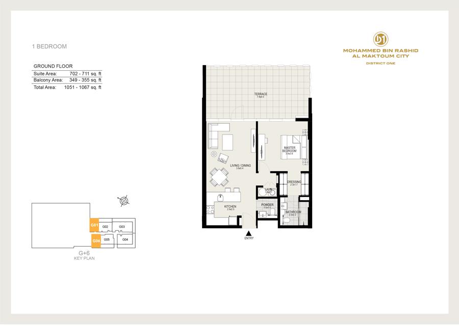 1 Bedroom, Ground Floor, Sizes 1067 sq ft