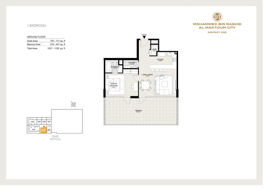 1 Bedroom, Ground Floor, 1027 sq ft