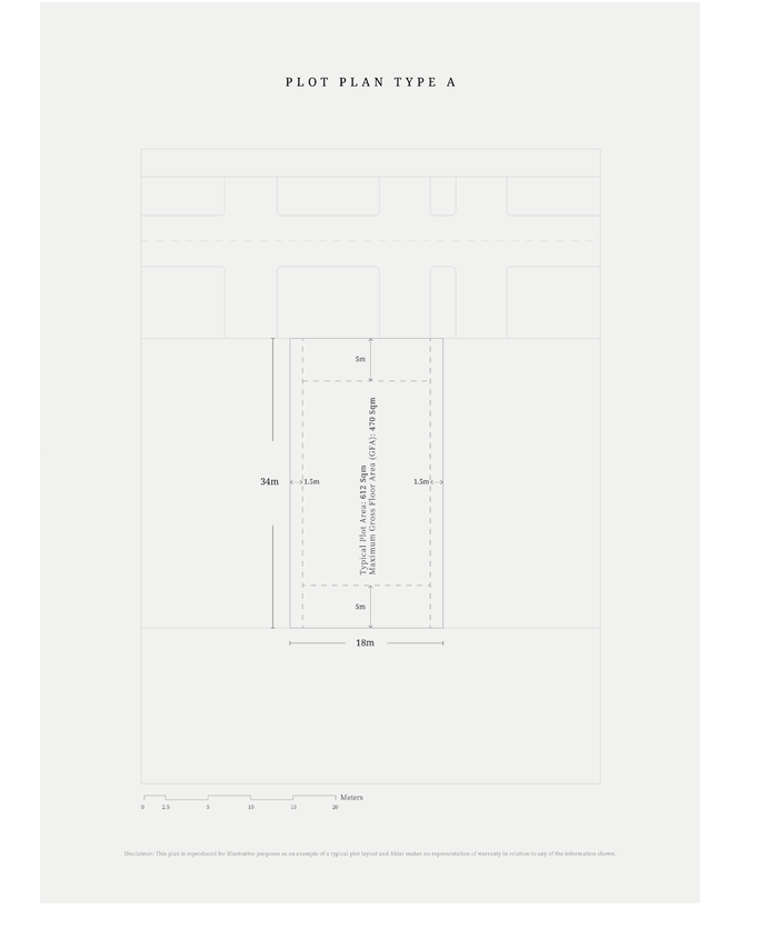Plot-Plan-Type-A,-Typical-Plot-Area,-Size-612-sq.m