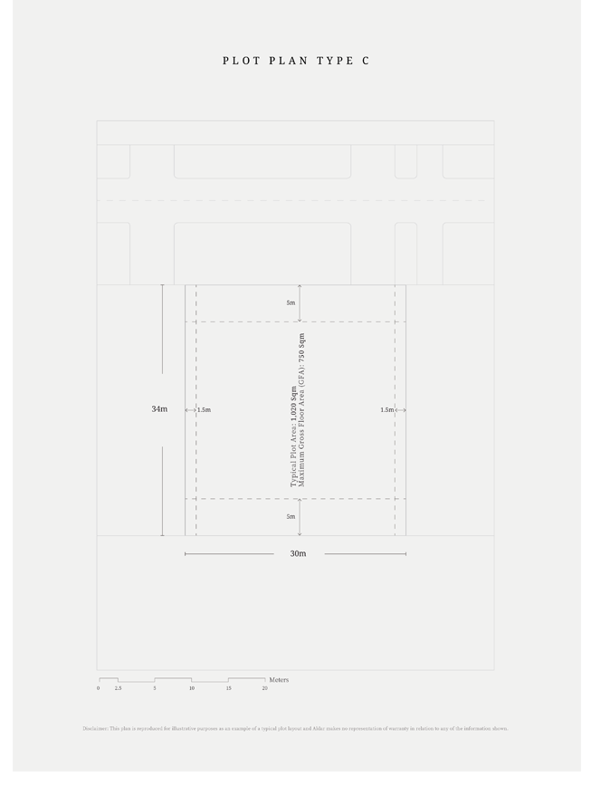 Plot-Plan-Type-C,-Typical-Plot-Area,-Size-1020-sq.m